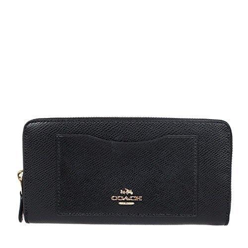 ther Accordion Zip Wallet - Black (Coach Handbags Wallets)