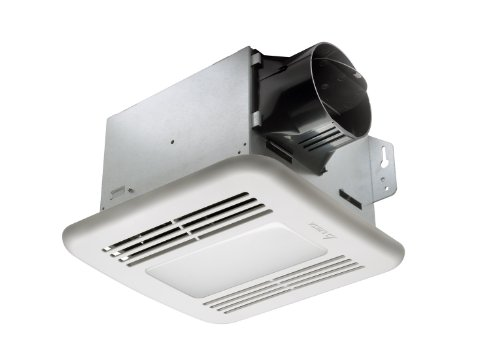 quiet bathroom fan with light - 1