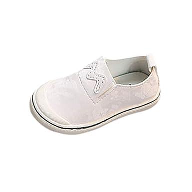 lo último db536 d0202 Berimaterry Zapatos de Primeros Pasos Unisex bebé Deporte Niños Zapatillas  sin Cordones para Niñas Blancas Niña Velcro de Gimnasia Niña pequeñas ...