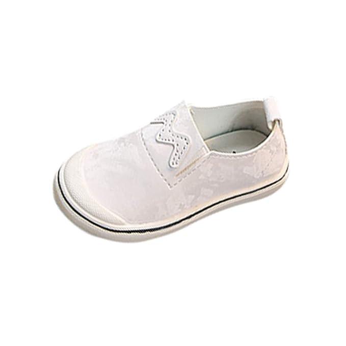3274115b4f8 Berimaterry Zapatos de Primeros Pasos Unisex bebé Deporte Niños Zapatillas  sin Cordones para Niñas Blancas Niña Velcro de Gimnasia Niña pequeñas Ligero  y ...