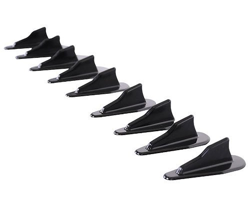 Roof Spoiler Compatible With Nissan EVO Style Vortex Generator Roof Spoiler Shark Fins PP Spoiler 10 Pcs Set by IKON MOTORSPORTS | 1997 1998 1999 2000 2001 2002 2003 2004 2005 2006 2007 2008 2009 2010 (Accord Coupe Roof Spoiler)