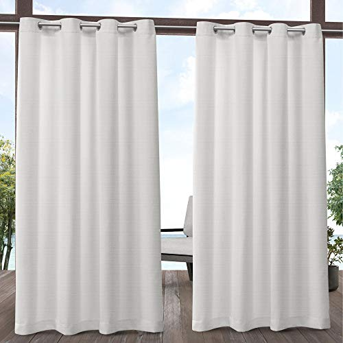 Exclusive Home Curtains Aztec Indoor/Outdoor Curtain Panel, 54x120, White, 2 Panels (Curtains Patio Outdoor Ikea)