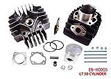 Complete Engine Cylinder Top End Kit with Piston Ring Gasket for Suzuki LT A50 LT50 JR50 LT JR 50