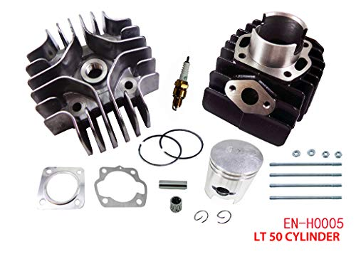 Complete Engine Cylinder Top End Kit with Piston Ring Gasket for Suzuki LT A50 LT50 JR50 LT JR 50