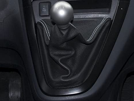 Black Perforated Leather-Tan Thread RedlineGoods Shift Boot Compatible with Toyota Matrix 2009-14