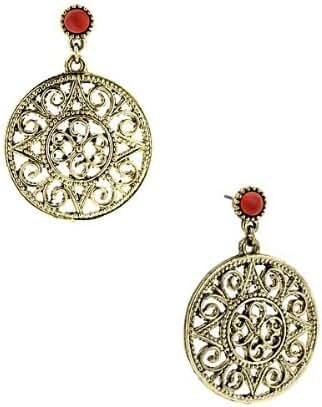 1928 Jewelry Venice Treasure Eye of Tiger Drop Earrings