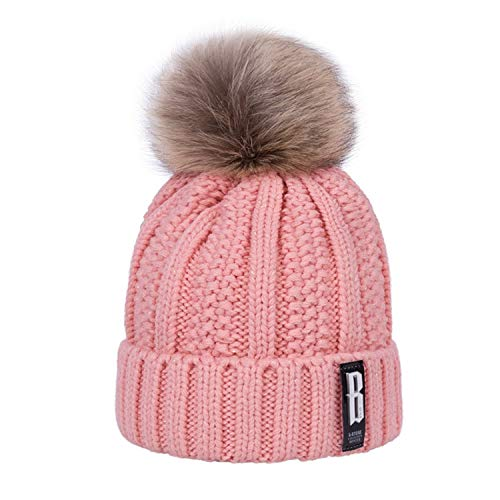 LONIY 2018 New Pom Poms Winter Hat for Women Fashion Solid Warm Hats Knitted Beanies Cap Brand Thick Female Cap