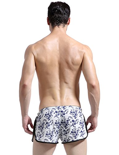 Blue Underwear Letuwj Elastic Waist Boxer Mens Flowers Loose Brief pA4f4vFyg1