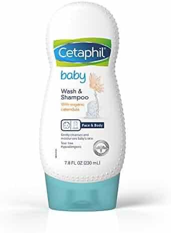Cetaphil Baby Wash & Shampoo with Organic Calendula, 7.8 Oz