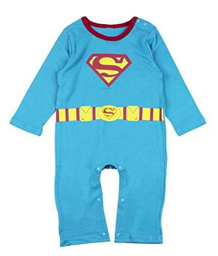 Superman Jumpsuit (StylesILove Adorable Character Print Long Sleeved Costume Jumpsuit (95/18-24 Months, Superman))