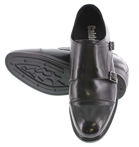 Formal T5325 Black Elevator Shoes Shoes 3 Dress Taller on inches Increasing Slip Height CALTO 6HwdPHq