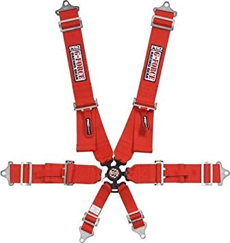 Gforce Racing Gear 7001BK Black FIA Rated 6-Point Pull-Down Camlock Individual Shoulder Harness Set