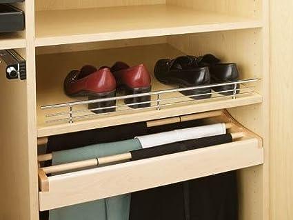 Rev-A-Shelf CSR-35CR-10 35 Wire Shoe Rail, Chrome