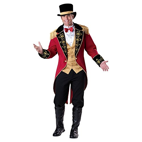Mens Circus Lion Tamer Costume (Ringmaster Costume - Large - Chest Size 42-44)