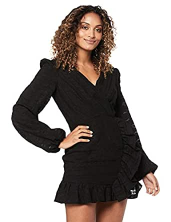 Finders Keepers Women's Sofia LS Dress, Black, Extra Small