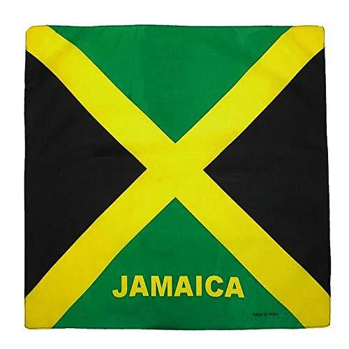 Fair Deal US 12 Pack Country Flag Print Bandanas (JAMAICA/12PACK)