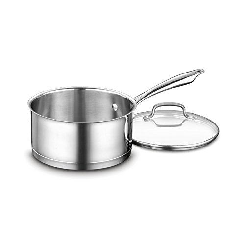 Cuisinart 89193-20 Professional Stainless Saucepan with Cover, 3-Quart, Stainless Steel