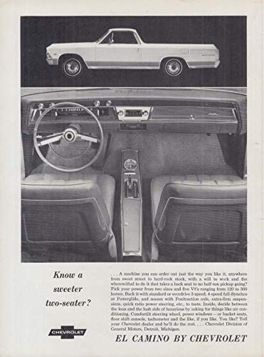 Know a better two-seater? Chevrolet Chevelle El Camino ad 1966 CLF