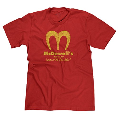 FreshRags McDowell's Restaurant Coming to America Parody Men's T-shirt MD Red 397