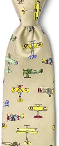 Vintage US Warplanes Tie By Alynn Novelty In Silk