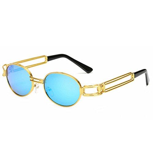 De Azul Clásico Gafas Mujer para Retro Sol Punk De Sol Gafas Marco Purple Mujer de Sol Gafas Color LBY WvqYgPUW