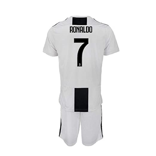 3b3275c0b Barlener Kid's Ronaldo Jerseys Juventus 7 Youth Football Jersey Boy's  Soccer Shorts White ...