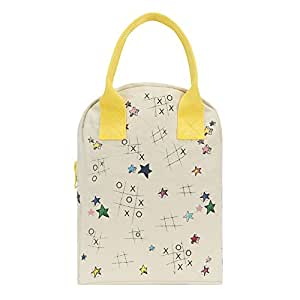 Fluf Zipper Lunch Bag, Tic Tac Toe