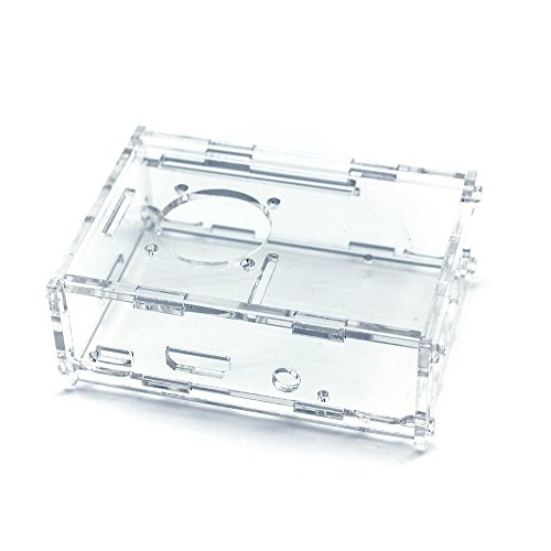 TRIXES Clear Acrylic Case with Cooling Fan for Raspberry Pi 3 & 2 Model B and Raspberry Pi Model B+