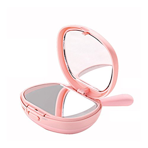 Akronfire LED Lighted Makeup Mirror, Lovely Warm Hands Treasure,Multifunctional Night Light, Mini Cartoon Warm Hand Pillow for Cosmetic, Reading, Travel by Akronfire