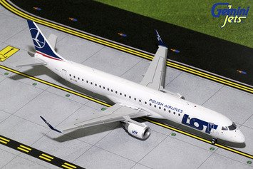 Gemini Jets Polish Airlines LOT Embraer ERJ-195 1:200 Scale Model Die-Cast Part# - Airline Diecast