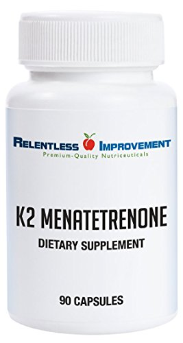 Relentless Improvement Vitamin K2 Mk4 | Vegan | Naturally-Derived | No-Fillers | Science-Based Dosing