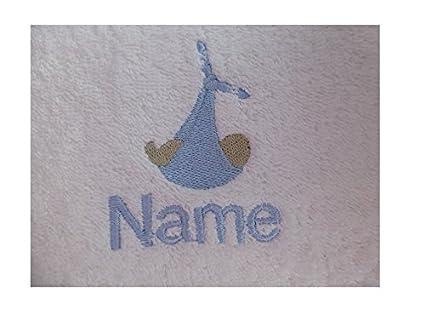 Toalla con capucha con un bebé en manta Logo y nombre de tu elección, 0