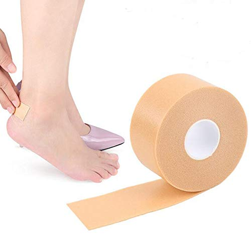 YOYOSTORE 1 Roll Foot Heel Sticker Foam Tape Blister Pads For Prevention and Healing, Bandages, Adhesive Skin Blister Patches Comfortable in Shoes and Cleats