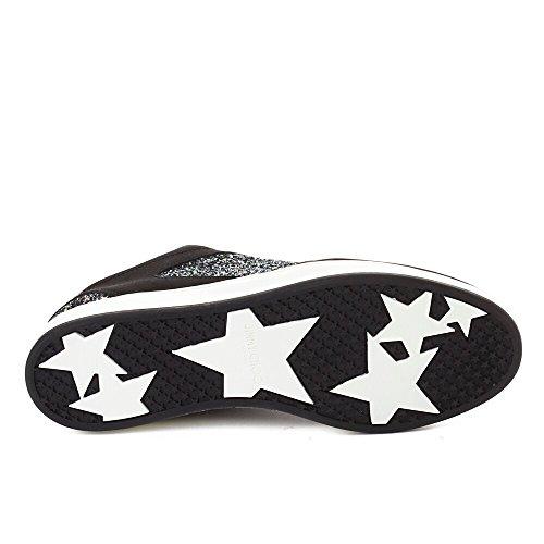 Jimmy Choo Dames Suède Glitter Sneaker Schoenen Zwart