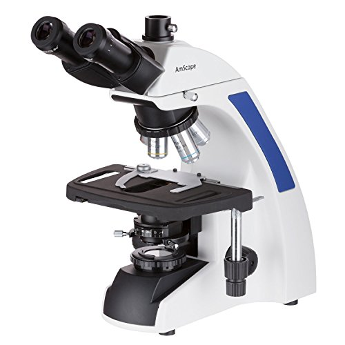 AmScope 40X-2500X Plan Infinity Kohler Laboratory Trinocular Compound Microscope by AmScope