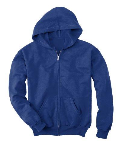 Hanes Little Boys' Eco Smart Fleece Zip Hood, Deep Royal, x (Out Kids Sweatshirt)