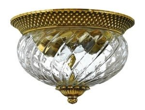 Flush Collection Outdoor (Hinkley 4102BB Traditional Two Light Flush Mount from Plantation collection in Brassfinish,)