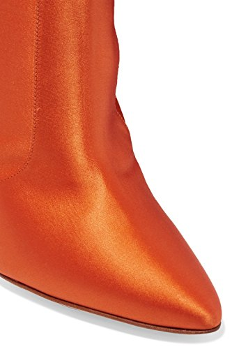 Waist Over Boots Boots Pointed High Knee the AIWEIYi Orange Toe Women Long p7xqfq