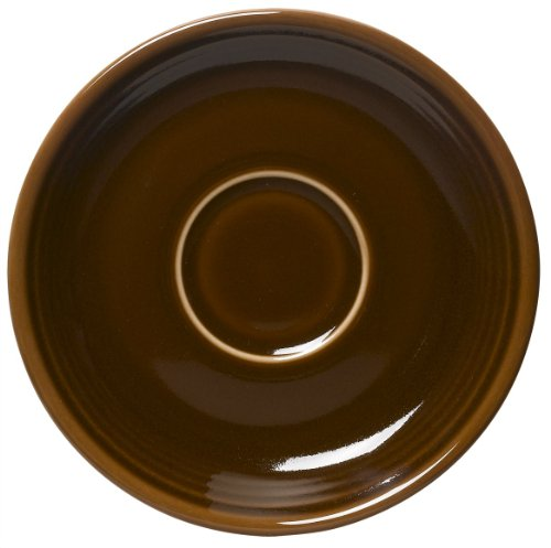 Fiesta 5-7/8-Inch Saucer, Chocolate - Homer Laughlin Fiesta Chocolate