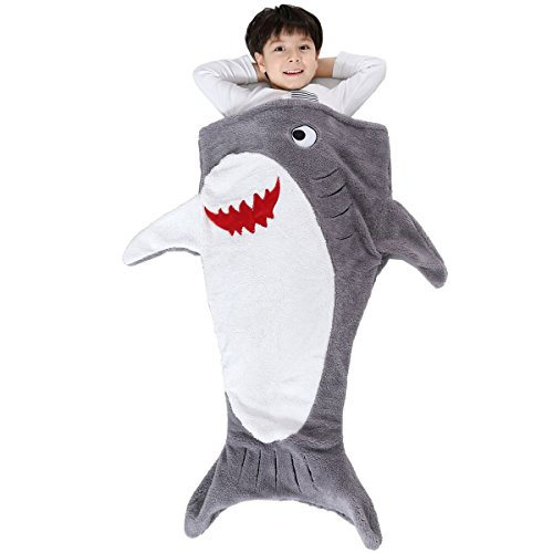 Shark Tail Blanket Sleeping for Kids Super Soft Camping Blanket Sleeping Bags for All Seasons by SINOGEM (Gray)