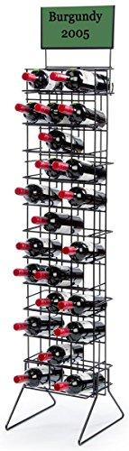 Displays2go WBR36BK 36 Bottle Wine Rack, 60.5-Inch, Black Review