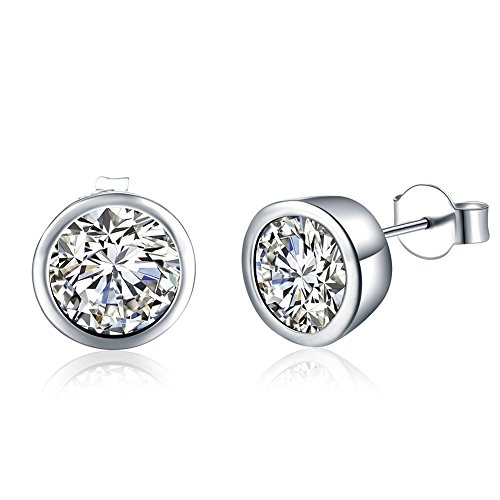 Round Earrings Silver Simple Stud Earrings Ladies Of Fashion Earrings