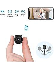 Spia Telecamera Nascosta AOBO Mini 1080P HD Microcamere WiFi IP Wireless Visione Notturna IR Rilevamento di Movimento Portatile Videocamera di Sorveglianza Video Registrazione in Loop