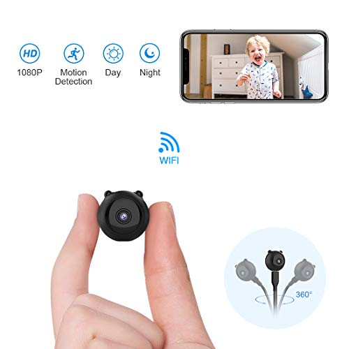 Intelligent Video Motion Detection - AOBO Spy Hidden Camera Mini Wireless WiFi Camera HD 1080P Indoor Home Smallest Spy Nanny Cam Security Cameras Battery Powered with Motion Detection/Night Vision for iPhone/Android Phone/iPad/PC