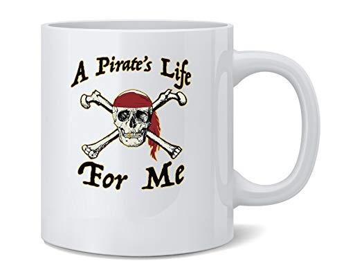 A Pirates Life For Me Halloween Costume Skull Coffee Mug Tea Cup 12 oz