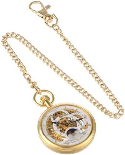 Charles-Hubert, Paris Gold-Plated Dual Time Mechanical Pocket Watch
