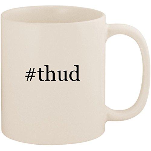 #thud - 11oz Ceramic Coffee Mug Cup, White