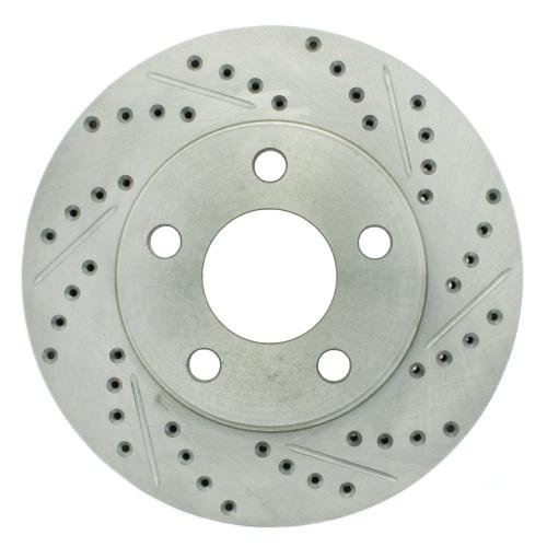 StopTech 227.62057L Select Sport Drilled and Slotted Brake Rotor; Front Left - Regal Plus Bite