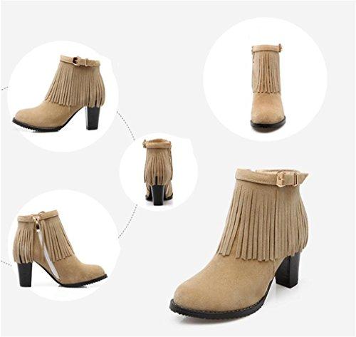HETAO Persönlichkeit Heels Women s Suede High Heel Pumps Quaste runde Kopf mit Bowtie Party Dress Stiefel Temperament elegant Schuhe meters white