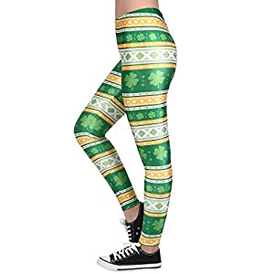 HDE Trendy Design Workout Leggings – Fun Fashion Graphic Printed Cute Patterns